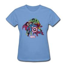 Justice League Captain Marvel Avengers Endgame T Shirt Women Captain American Spiderman Hulk Dr Who Heroes Tshirts Comic