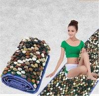 Natural foot foot massager bai maji stone pebbles gravel road walking foot massage cushion mat carpet Refers to the platen