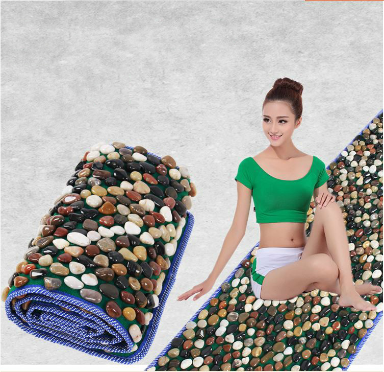 Natural foot foot massager bai maji stone pebbles gravel road walking foot massage cushion mat carpet Refers to the platen carpet of foot massage foot massage blanket foot massager foot to relax