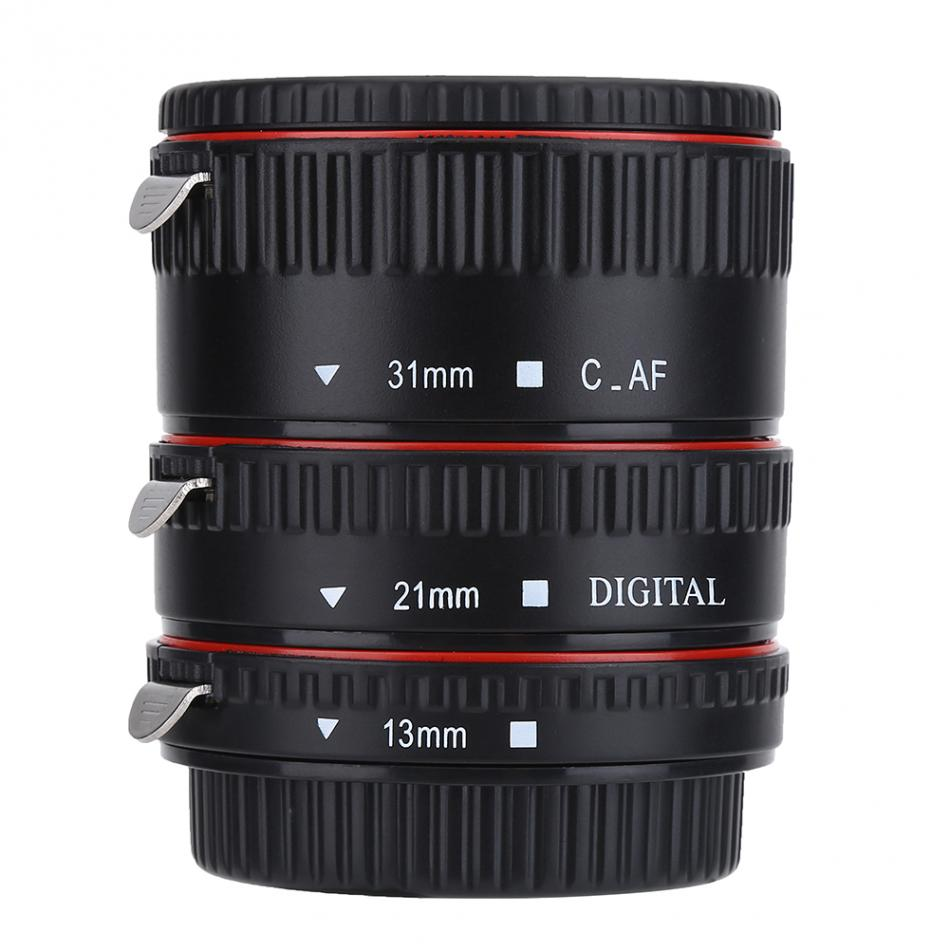 Metal Auto Focusing Macro Extension Lens Adapter Tube Rings Set 13/21/31mm Camera Lens For Canon For EOS EF Mount