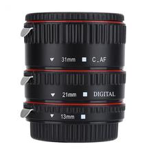 Auto Focusing Macro Extension Lens Adapter Tube Rings Set 13/21/31mm Camera Lens for Canon for EOS EF Mount