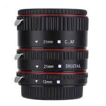 Automatyczne ustawianie ostrości makro Adapter obiektywu rury zestaw pierścieni 13/21/31mm obiektyw do modeli Canon dla EOS mocowanie EF