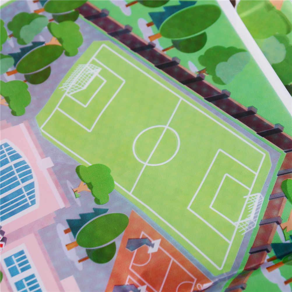 70*70 CM Dikke Stad Stadsverkeer Baby Kruipen mat PVC Klimmen Pad Green Road kinderen Spelen Mat tapijt voor Baby
