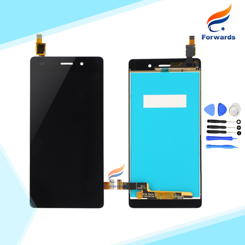 100% New Tested Parts for Huawei Ascend P8 Lite Lcd Screen Display with Touch Digitizer + Tools assembly 1 piece free shipping brand new lcd display touch screen digitizer assembly for huawei ascend p8 lite replacement parts