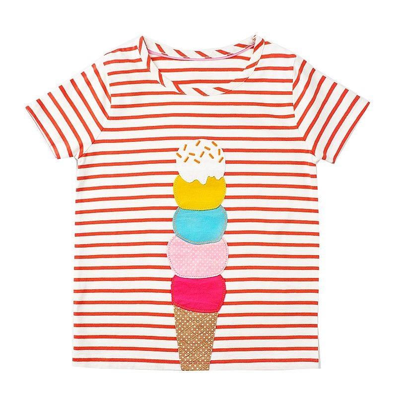 Kidsalon Kids Clothes 2018 Summer Cotton Children T-shirt Cartoon Patterns Baby Girl Clothes Fashion Short Sleeve girls t shirt 1