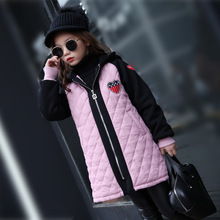 Girls Clothes Children Winter Long Sleeve Warm Jacket & Outwear Girls Cotton Long Outwear Baby Girls Coat for Christmas