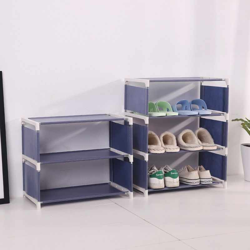 3/4/5 Layer Quality Non-woven Shoe Rack Portable Waterproofing Dustproof Cabinet Organizer Holder DIY Foldable Stand Shoes Shelf