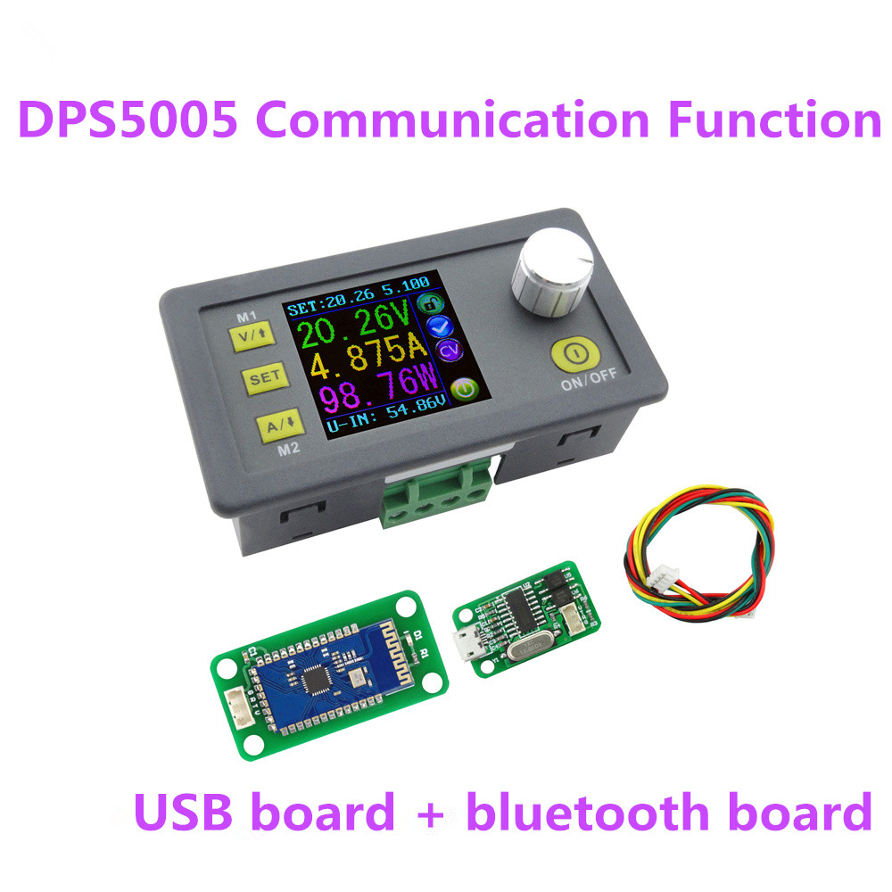 DPS5005 Communication Function converter color LCD Step-down Power Supply module voltmeter Constant Voltage current 40%off 10pcs lot dps5005 communication function step down power supply module buck voltage converter constant current lcd voltmeter 40%