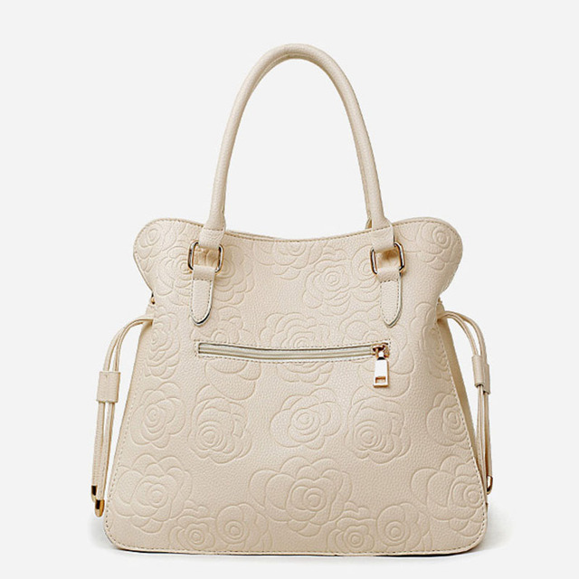 New Fashion Leather Women's Handbags With Purse Famous Brand TuLaDuo Ladies Shoulder Bags High Quality Print Rose Composite Bag