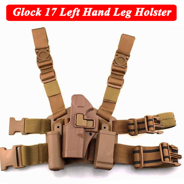 Quick Drop Tactical Gun Holster Military Airsoft Gun Hunting Pistol Leg Holster Glock 17 19 22 23 31 32 Left /Right Hand Holster 4