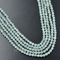 5Strands/Lot 2mm 3mm Faceted Natural Blue Amazonite Gem Stones Round Spacer Seed Loose Beads 15.5'' DIY Jewelry Design Craft
