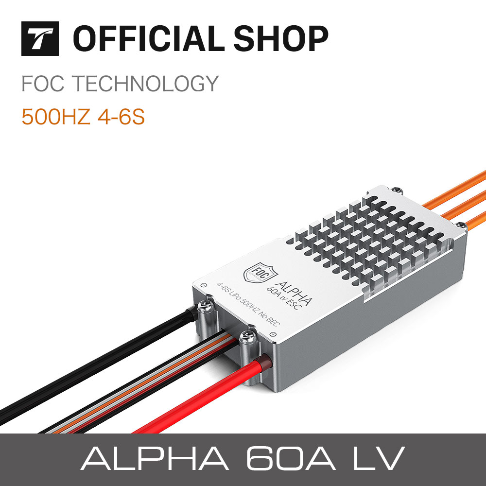 T-motor ALPHA 60A LV FOC  High Efficiency Electronic Speed Controller for Multicopter drone accessories bl motor t motor u power u8 high efficiency multi axis rotary disc brushless motor tm efficiency series