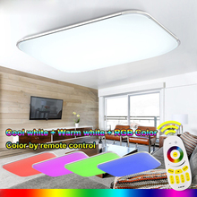 New RGB LED Ceiling Lights Modern With Remote Controlled Dimmable Color Changing Lamp For Livingroom Bedroom AC90-265v