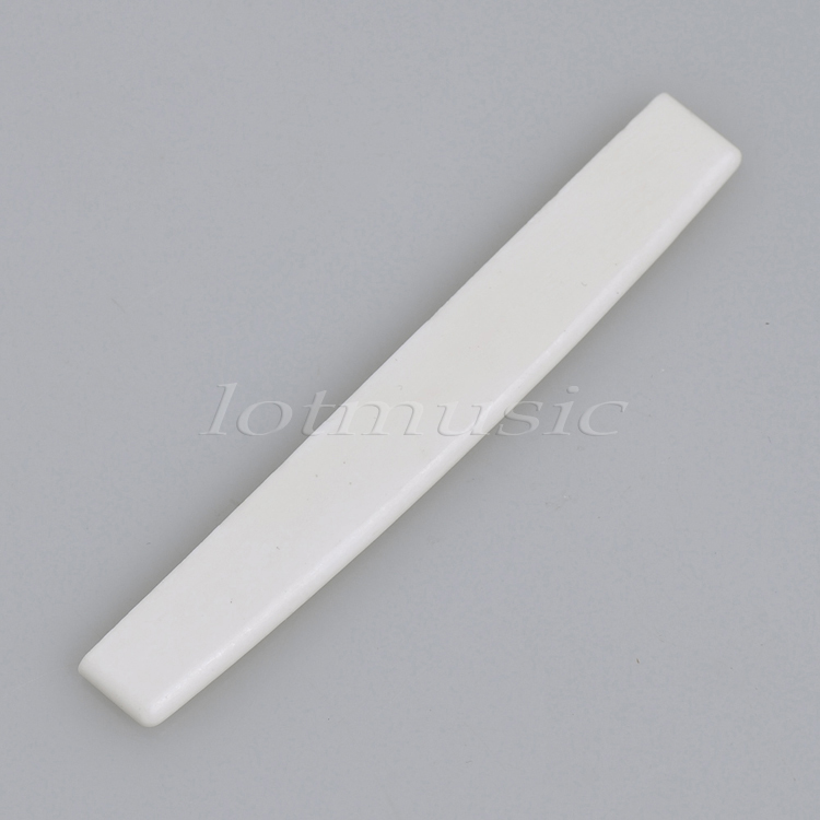 1Pcs Real Bone Saddle For 7 String Acoustic Guitar 76.5 x 3 x 11mm