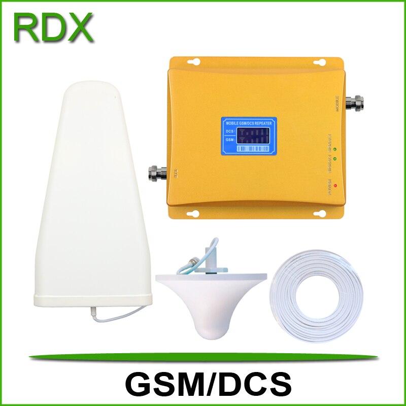 Haute qualité nouveau lcd affichage double bande 900 1800 signal booster téléphone mobile gsm 4G dcs1800 mhz signal répéteur amplificateur en vente