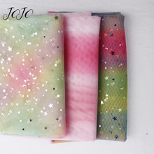 JOJO BOWS 1*1.5m Sequin Fabric Rainbow Gradient Sheet For Clothing Home Textile Wedding Party Decoration Apparel Sewing Sheets