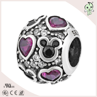 Cute Cartoon Silver Pleated Jewelry Brand 925 Sterling Silver Charms European Christmas Mixed Beads Alphabet Heart