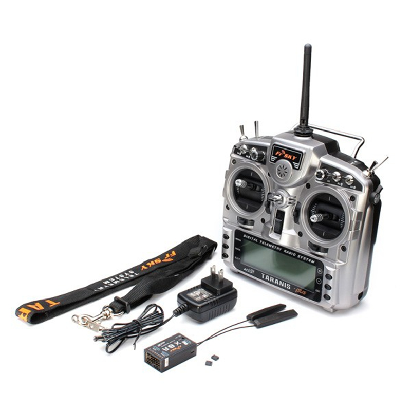 FrSky Taranis X9D Plus 2 4G ACCST Transmitter With X8R Receiver For RC Multicopter Part