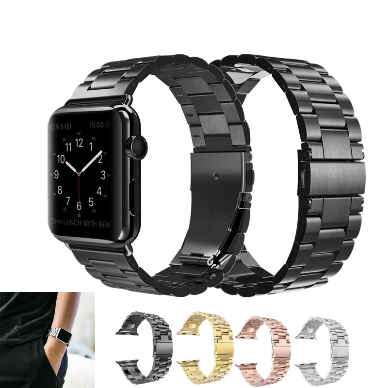 ASHEI Watchband For Apple Watch Band 42mm Series 3 Stainless Steel Link Bracelet Watch Strap For iWatch Bands 38mm Series 2 1 idg band for apple watch 42mm 38mm butterfly clasp stainless steel link bracelet strap for apple watch series 1 3 2 watchband