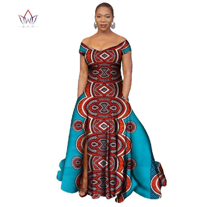 2018 Лонг Хаљина Африка Базин Рицхе - Женска одећа - Фотографија 5