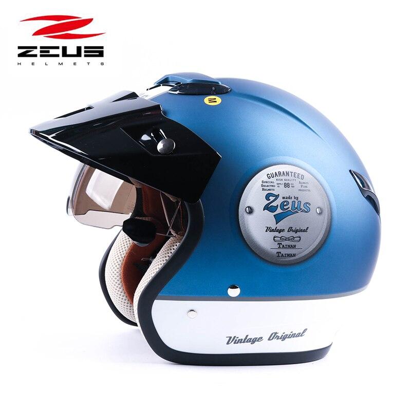 ZEUS 382 open face 3/4 moto motocross Casco Capacete casque, scooter casque Vintage rétro moto casque de sécurité