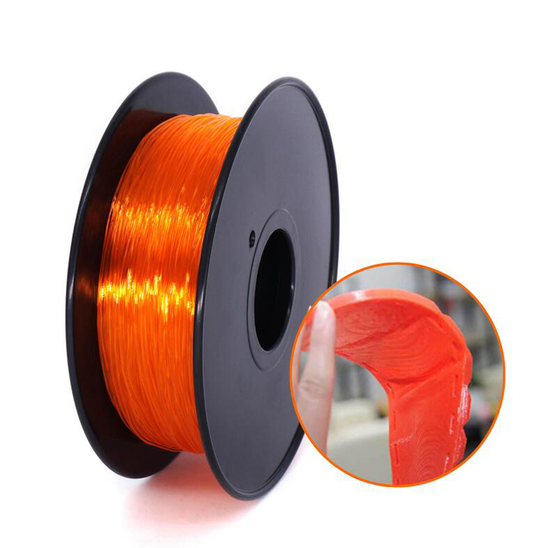 CreatBot  3D Printer Filament 1.75mm 3.0mmTPU Flexible Filament 0.8KG Spool  Dimensional Accuracy +/  0.05mm  Black|3D Printing Materials| |  - title=
