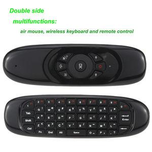 Image 5 - 7 renk arkadan aydınlatmalı rusça İngilizce C120 kara Fly air fare 6 eksen sensörü android uzaktan kumanda mini 2.4Ghz kablosuz klavye