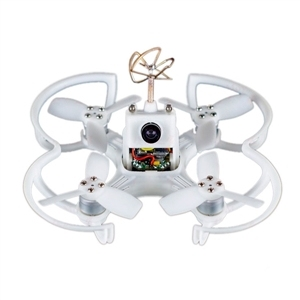 EMAX Babyhawk 85mm Micro Brushless FPV Drone-PNP VERSIÓN de Carreras BLANCO