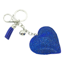 2018 New Fashion Car Full Rhinestone Heart Key Chain Gold Silver Chain Keychain Bag Car Hanging Pendant Jewelry Hot new fashion women heart rhinestone keychain pendant car key chain ring holder jewelry exquisite gifts m23