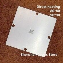 Directe verwarming 80*80 90*90 28F128J3C150 28F128J3A150 28F128J3D75 28F256J3C125 RC28F256J3C125 BGA64 BGA Stencil Template