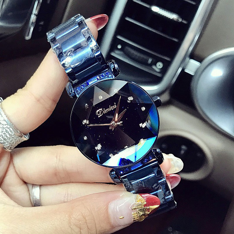 New Brand Women Stainless Steel Watch Ladies Crystal Bright Star Bracelet Watches Dress WristWatch Montre Femme reloj mujer 2018 kimio ultra thin women s bracelet watch ladies stainless steel dress watches with gift box relojes mujer relogios montre femme