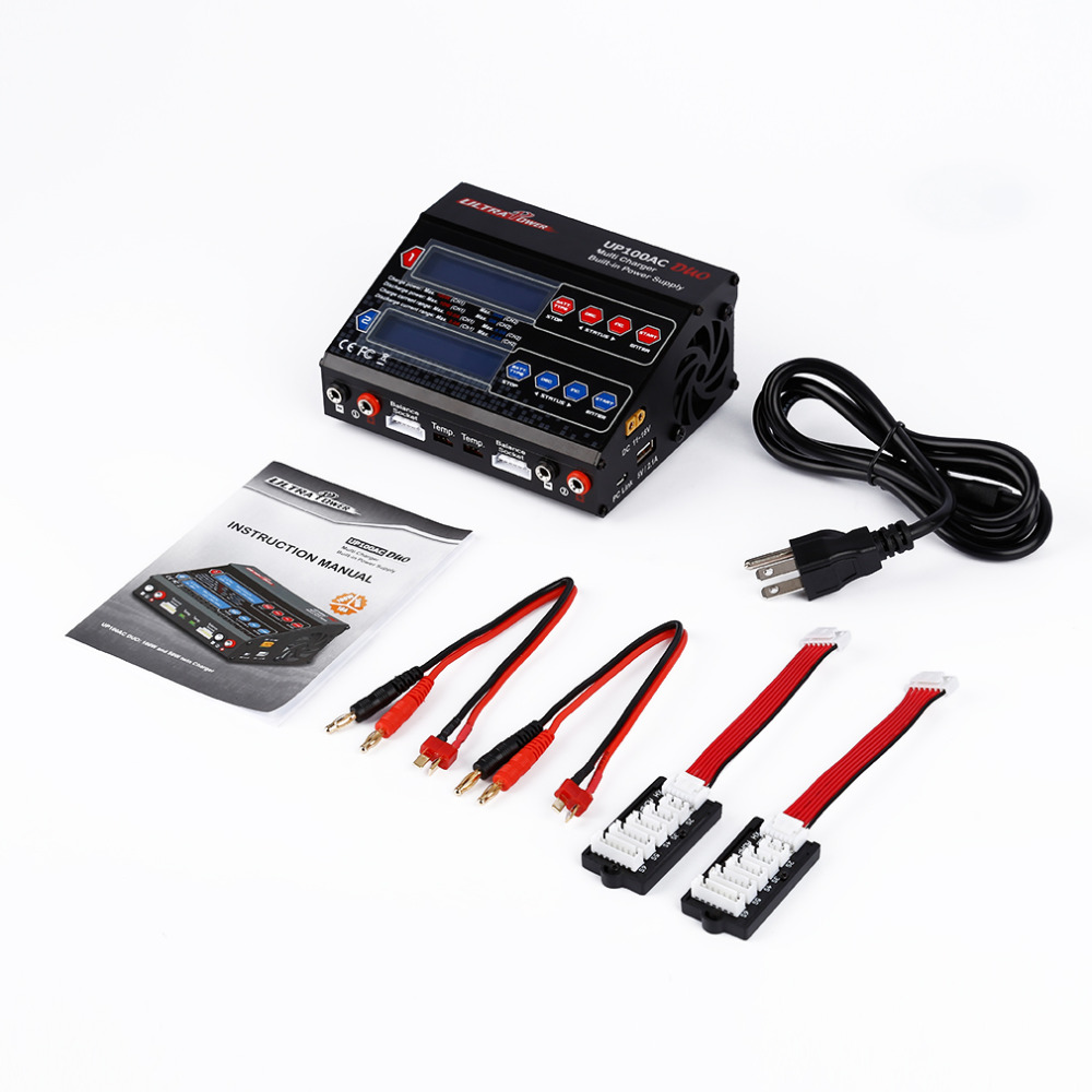 1pcs Dual 2 Port 100Watt 10/6Amp AC DC Balancing Battery Charger LiPo UP100AC 10x 5w watt 2r2 2 2 ohm 5
