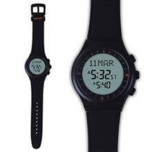 Al   Marameen มุสลิมนาฬิกาข้อมือ 6506 สีดำอิสลาม Azan นาฬิกา 100% แหล่งกำเนิดสินค้าใหม่ 1 pcs แพคเกจของขวัญ