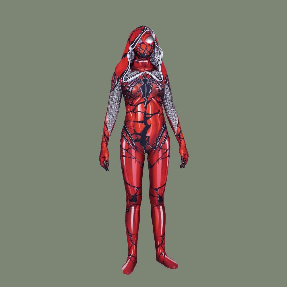 Spider-man Red Carnage Venom Cosplay Costume Superhero Theme Spider Man Scarlet blood Gwen Stacy Zentai Bodysuit Jumpsuits Suits