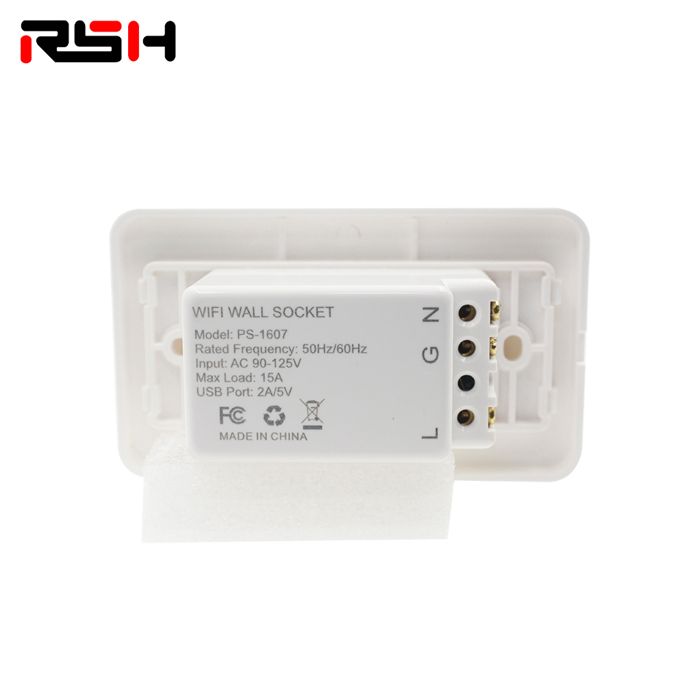 WiFi Wall Socket Connects To The Internet Through WiFi Network And Controls The Power Of