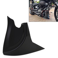 Neverland Universal Motorcycle Chin Fairing Front Spoiler For Harley Sportster 883 1200XL Cafer Gloss Black ABS