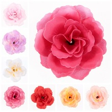 Yundfly 20pcs Baby Girls Garland Wreath Headband Flower Solid Fabric Flowers Children Hair Accessories