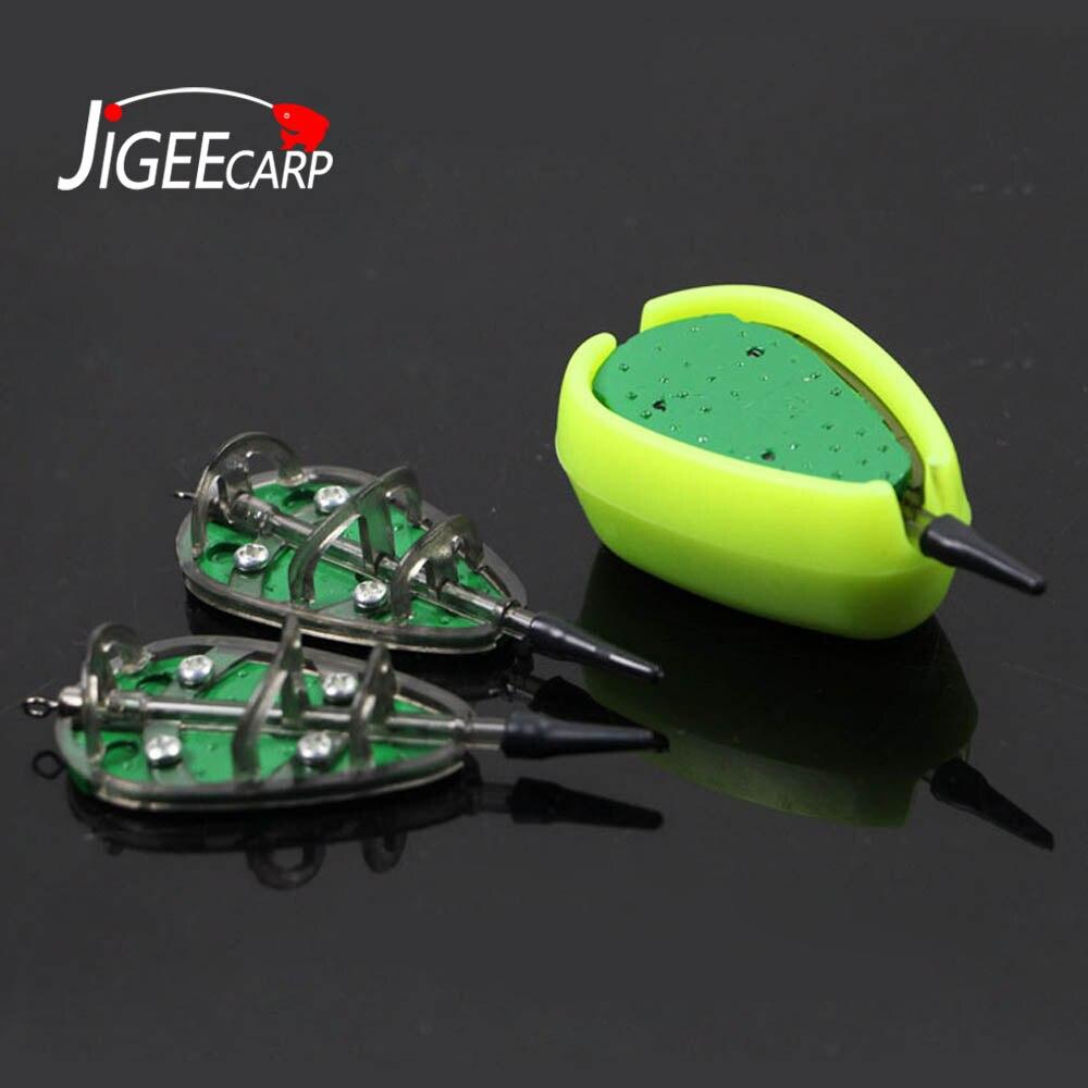 JIGEECARP 1Set Outdoor Carp Fishing Tackle Inline Method Feeder & Mould Set Quick Release Bait Carp Barbel Coarse Baiting Tool