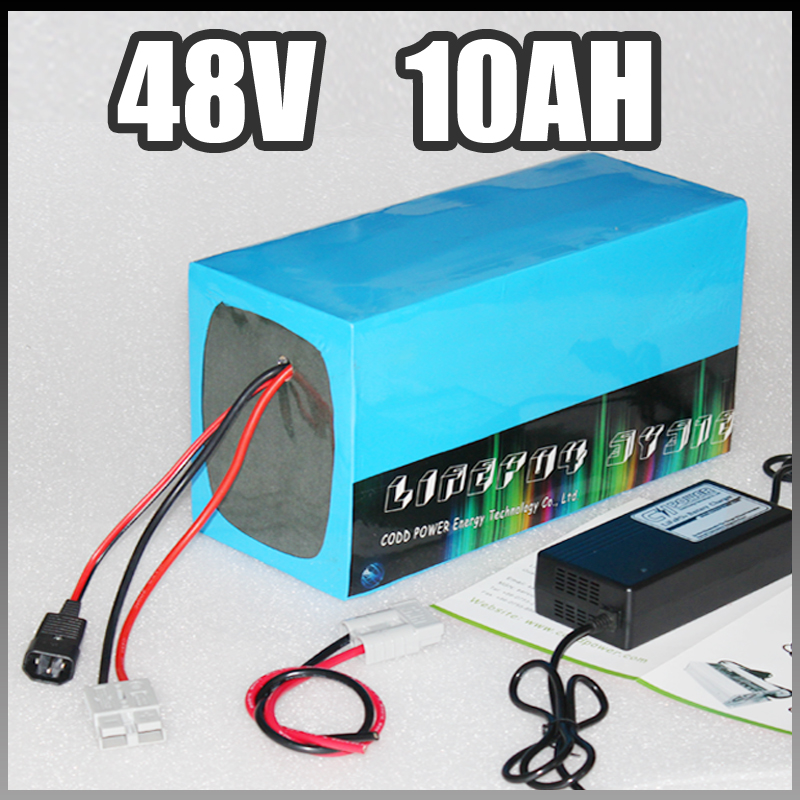 Free customs taxes High quality DIY 48 volt li-ion battery pack 48v 500w with charger and BMS for 48v 10ah lithium battery pack free customs taxes rechargeable lithium battery 48v 12ah lithium ion battery 48v 12ah li ion battery pack 2a charger 20a bms