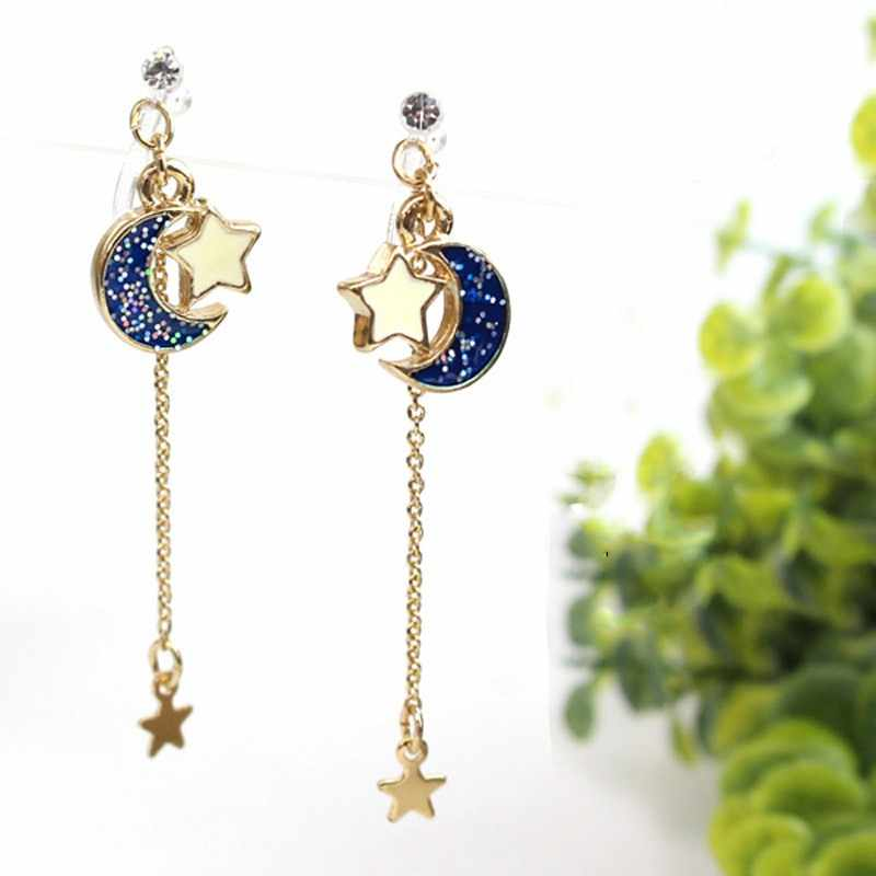 Anime Sailor Moon 25th Cosplay Earring Girl Blue moon star eardrop accessories prop