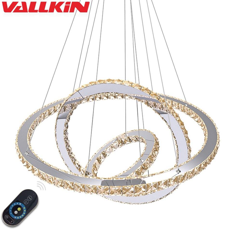 DIMMABLE LED Cristal Pendentifs pour Lustres Lampe Lampes Pendentif Lampe Appareils avec Télécommande pour Salle À Manger Hôtel Maison