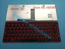 Новая Бразильская португальская Клавиатура для ноутбука Lenovo G480 G480A G485 G485A, Бразильская клавиатура с красной рамкой