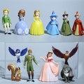 12 pçs/set minha sophia Brinquedos Bonecas Nova Banda menina Desenhos Animados móveis Dolls & Acessórios poni para Presente de Aniversário de Brinquedo figuras