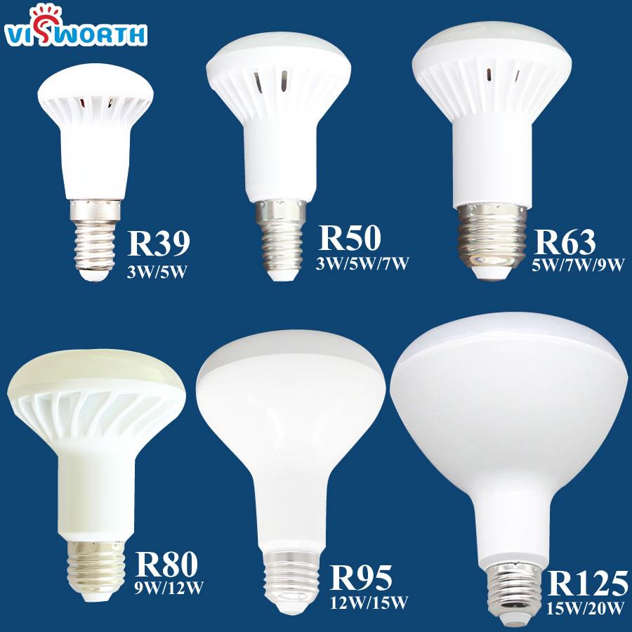 R50 Led lamp 3W 5W 7W 9W 12W 15W 20W Led Bulb E14 E27 Base R39 R63 R80 Br30 Br40 Spotlight AC 110V 220V 240V Warm Cold White led light bulb r50 r63 r80 e14 e27 b22 5w 7w 9w 5730smd reflector light lamp bulb pure warm natural white lighting ac85 265v
