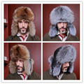 2016 New Real fox fur hat male fur cap men hat popular bombor design headgear real sheep lather top headdress head warmer 10245