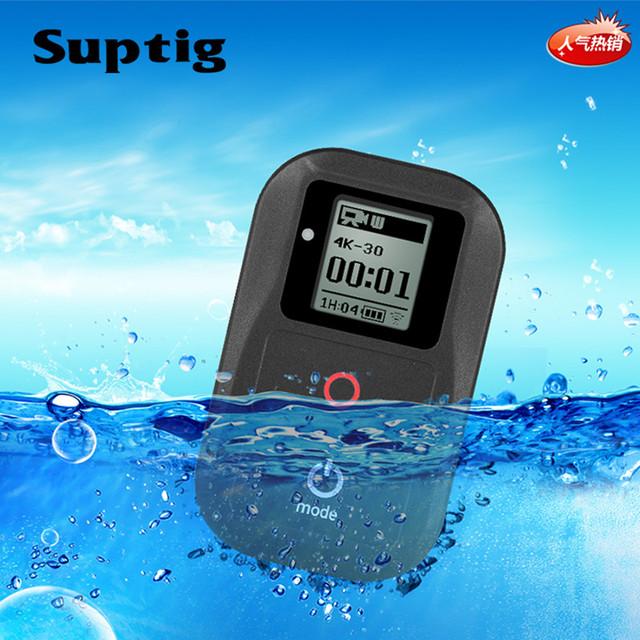 Suptig Waterproof WIFI Remote Control For Gopro Hero 6 Hero 5 4 3+ 3 / 4 Session 5 Session Camera For Gopro Hero 7 Black