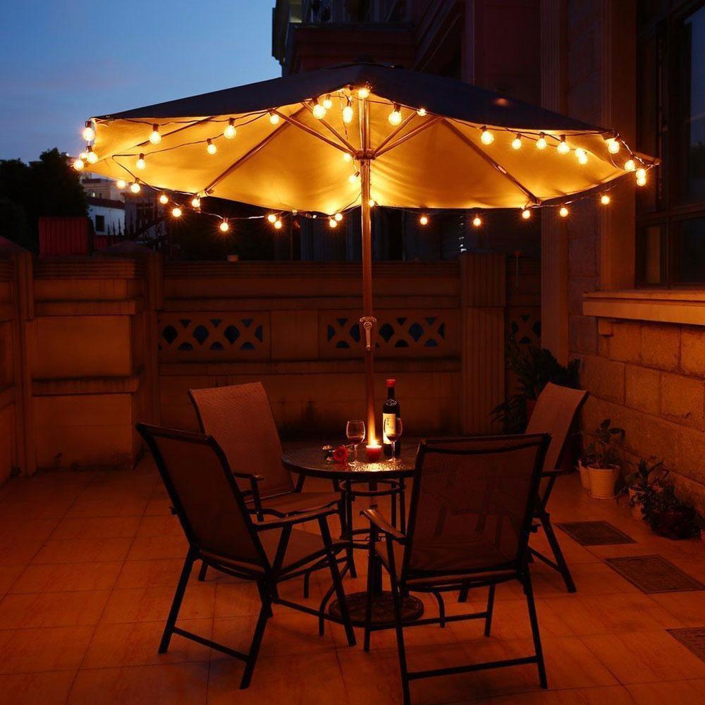 VNL G40 stiegrojuma lampas ar 25 G40 skaidrām globālām spuldzēm, - Brīvdienu apgaismojums - Foto 5