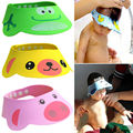 Adjustable Soft Baby Kid Safe Shampoo Bath Shower Cap Hat Wash Hair Eye Shield