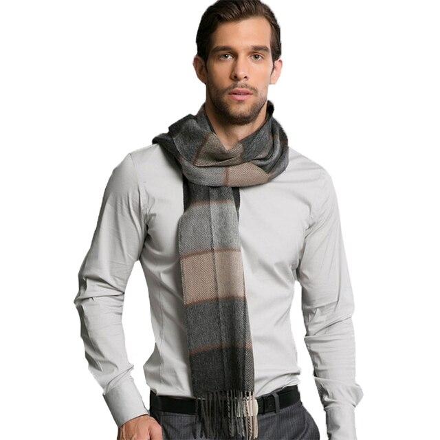 Nueva europa hombres del estilo de bufandas 95% bufanda de lana Autunmn e invierno gruesa caliente bufanda a cuadros moda para hombre bufandas AM225 envío gratis