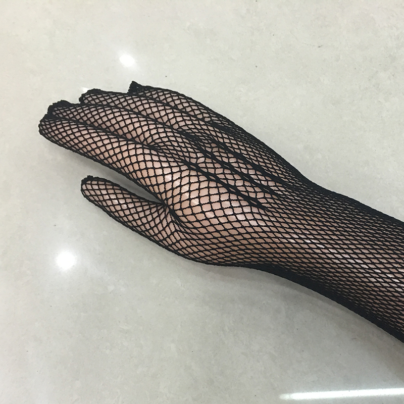 2019 New Sexy Long Sleeve Mesh Gloves Mesh Gauntlets Black Lacing Glovs Sexy Lingerie Liturgy Gloves 135